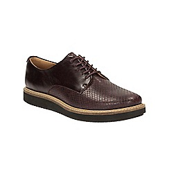 Clarks - Aubergine 'Glick Darby' lace up shoe