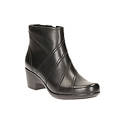 Clarks - Black leather 'Malia Marny' heeled ankle boot