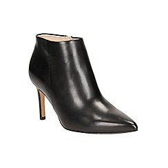 Clarks - Black leather 'Dinah Pixie' heeled ankle boot