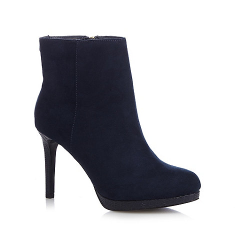 Faith - Navy +Bailey+ high ankle boots