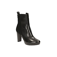 Clarks - Black leather 'Kendra Porter' heeled ankle boot