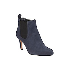 Clarks - Navy suede 'Carlita Quinn' heeled chelsea boot
