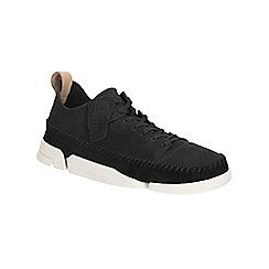 Clarks - Black nubuck 'Trigenic Flex' casual lace up shoe