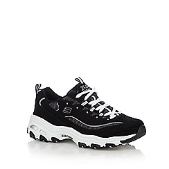 Skechers - Black 'D'Lites- Me Time' trainers