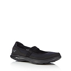Skechers - Black 'Go Step Original' slip on trainers