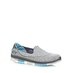 Skechers - Light Grey 'Go Flex Ability' slip on trainers