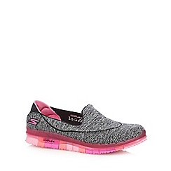 Skechers - Dark grey 'Go Flex Ability' slip on trainers