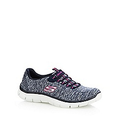 Skechers - Navy space dye 'Empire Heart to Heart' trainers