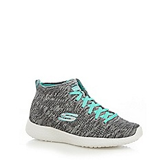 Skechers - Grey 'Burst Divergent' high tops
