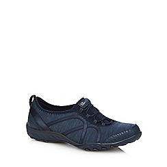 Skechers - Navy 'Fortune' breathe easy trainers