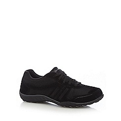 Skechers - Black suede 'Breathe Easy Jackpot' trainers