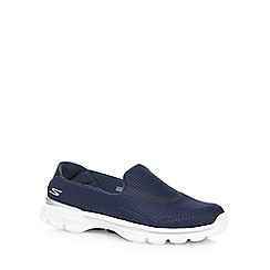 Skechers - Navy 'Go Walk 3' slip on trainers