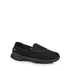 Skechers - Black 'Go Walk 3' slip-on trainers