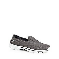 Skechers - Grey 'Go Walk 3' slip on trainers