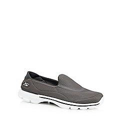 Skechers - Grey 'Go Walk 3' slip-on trainers