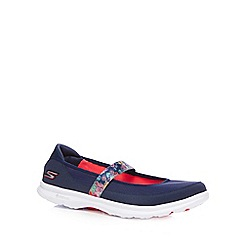 Skechers - Navy 'Go Step - Bloom' flat shoes