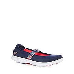 Skechers - Navy 'Go Step - Bloom' flat shoes