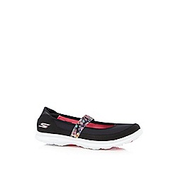 Skechers - Black 'Go Step - Bloom' slip on trainers