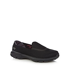 Skechers - Black 'Go Walk 3' slip on trainers