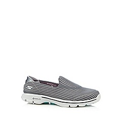 Skechers - Grey 'Go Walk 3' slip-on shoes