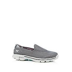 Skechers - Grey 'Go Walk 3' slip-on shoes