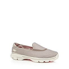 Skechers - Natural 'Go Walk 3' slip on trainers