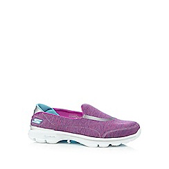Skechers - Pink 'Go Walk 3 - Force' slip-on shoes