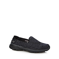 Skechers - Black 'Go Walk 3 - Force' slip-on shoes
