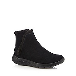 Skechers - Black 'Blaze' suede mix boots