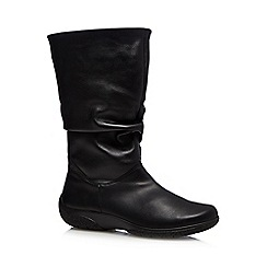 Hotter - Black 'Mystery' calf high boots