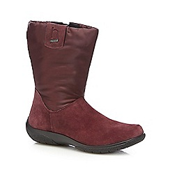 Hotter - Purple 'Orla' calf suede boots
