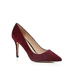 J by Jasper Conran - Dark red 'Joss' suede pointed high shoes