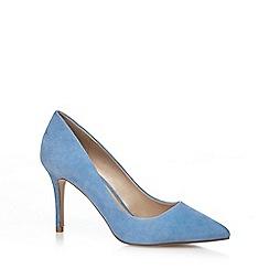 J by Jasper Conran - Blue suede 'Joss' high stiletto heel pointed shoes