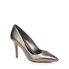 J by Jasper Conran - Silver leather 'Joss' high stiletto heel pointed shoes