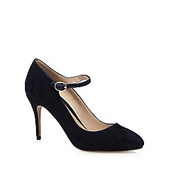 J by Jasper Conran - Navy suede high sandals