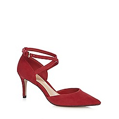 J by Jasper Conran - Red suede high stiletto heel court shoes