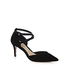 J by Jasper Conran - Black cross over strap high court shoes