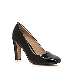 J by Jasper Conran - Black patent high court shoes