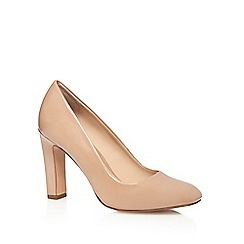 J by Jasper Conran - Nude 'Julio' patent high court shoes