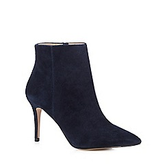 J by Jasper Conran - Navy suede high ankle boots