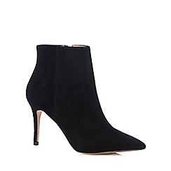 J by Jasper Conran - Black suede high ankle boots