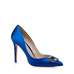 J by Jasper Conran - Blue stone buckle high court shoes