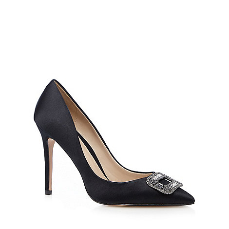 Image result for J by Jasper Conran - Black satin high stiletto heel pointed shoes
