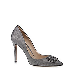 J by Jasper Conran - Silver stone buckle high court shoes