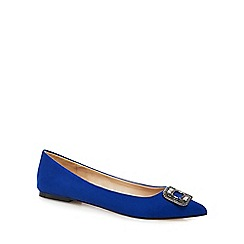 J by Jasper Conran - Blue suede embellished flat shoes