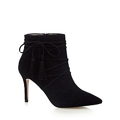 J by Jasper Conran - Black suede ankle boots