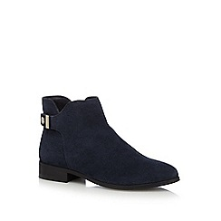 J by Jasper Conran - Navy 'Judith' suede ankle boots