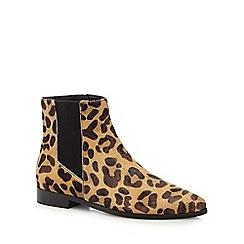 J by Jasper Conran - Black leopard print Chelsea boots
