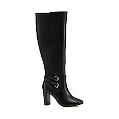 J by Jasper Conran - Black 'Jaxon' leather knee high boots