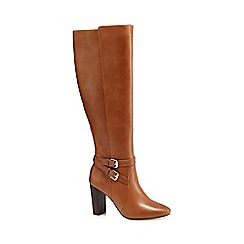 J by Jasper Conran - Tan 'Jaxon' leather knee high boots